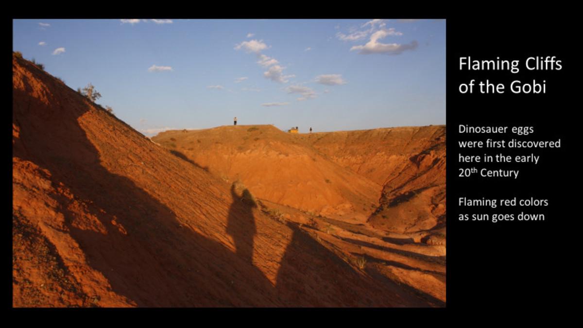 Flaming Cliffs of the Gobi Desert
