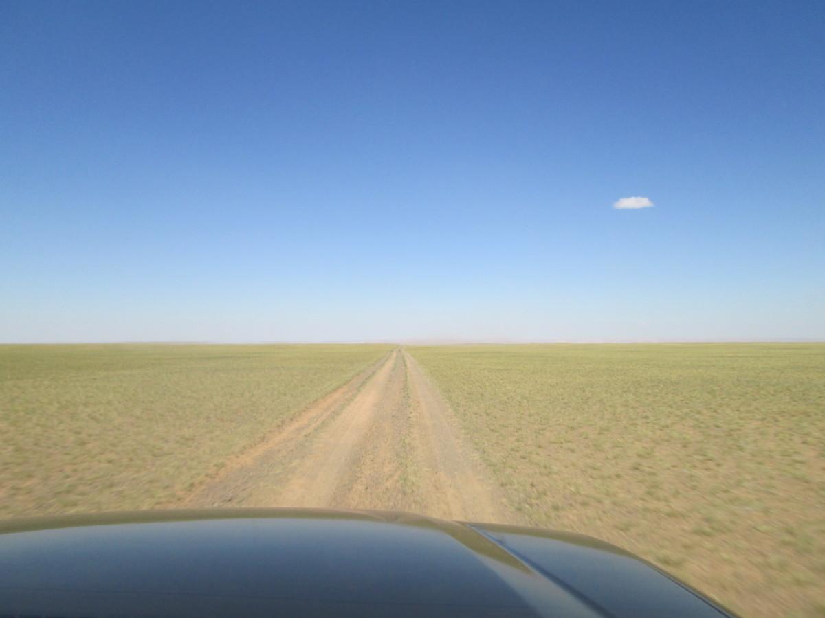 driving through the Gobi Desert
