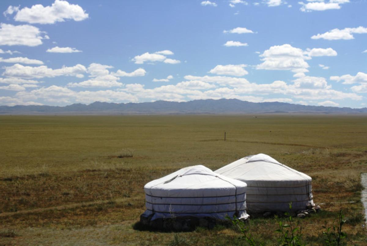 Ger Camp Deep within the Gobi Desert
