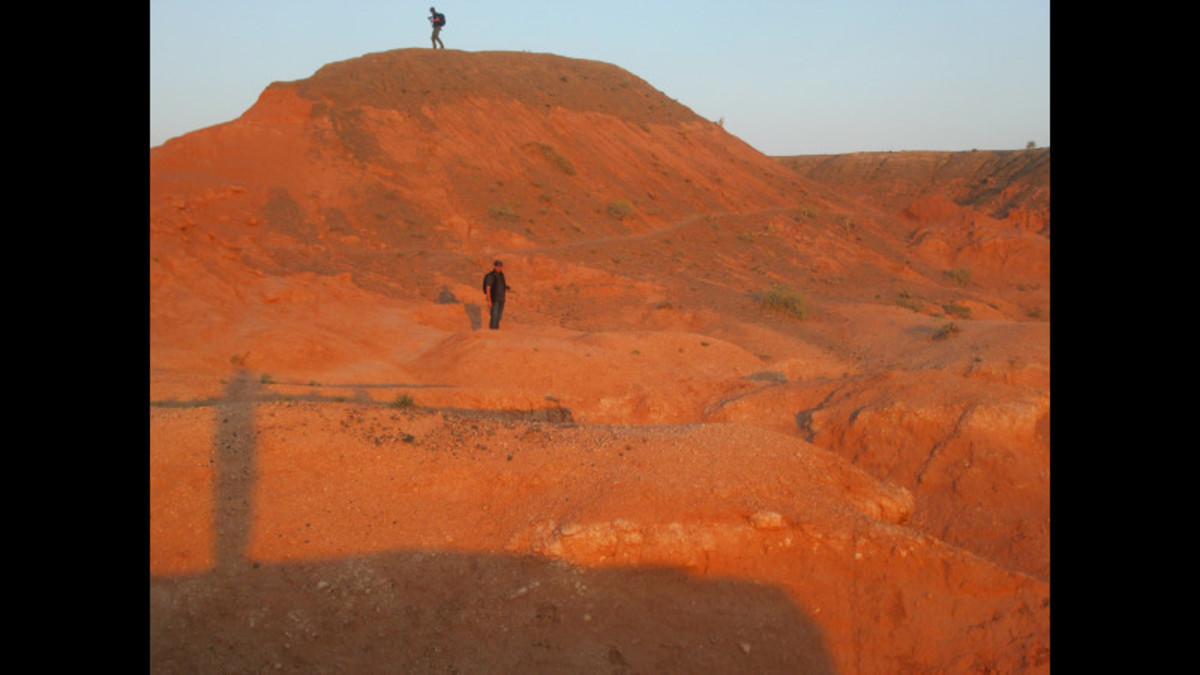 The Flaming Cliffs of the Gobi Desert