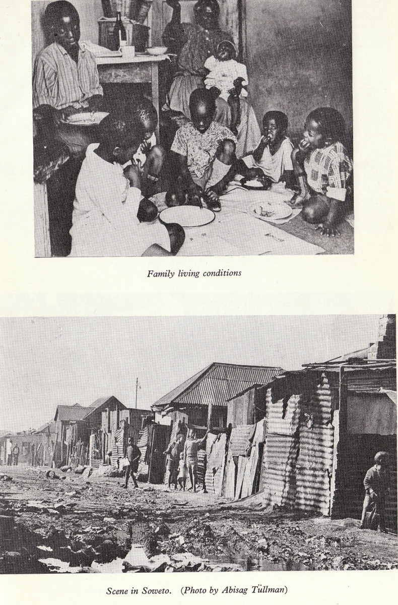 Slum living along with  alongside malnutrition and lack of proper diet alongside dilapidated slum environment; note the unsanitary condition outside the homes- which posed a health and mental hazard
