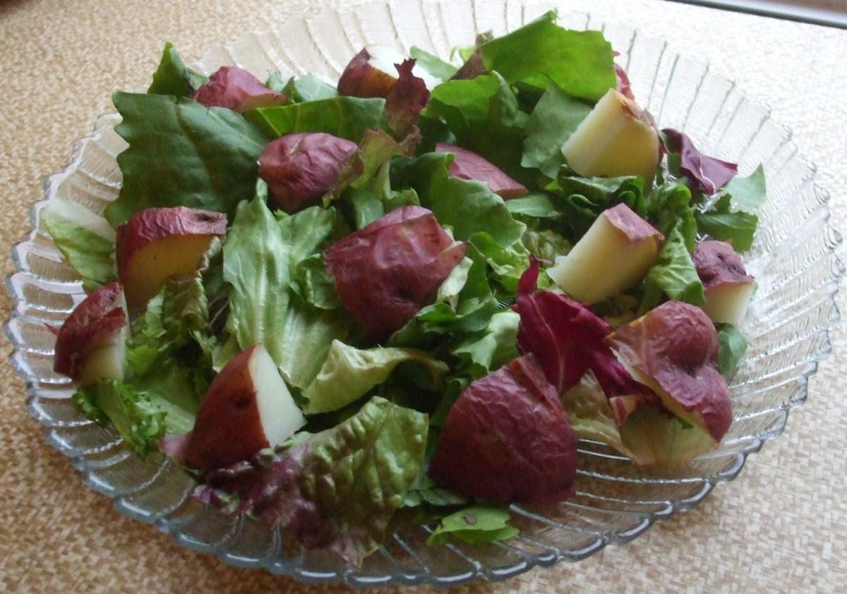 Ta-DA!  A Gorgeoous, 2-ingredient Valentine salad.