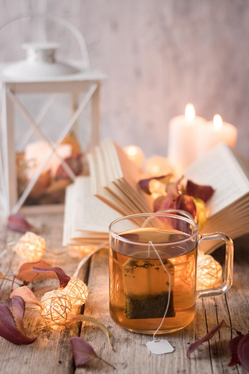 A tea ritual sets the mood for relaxation.