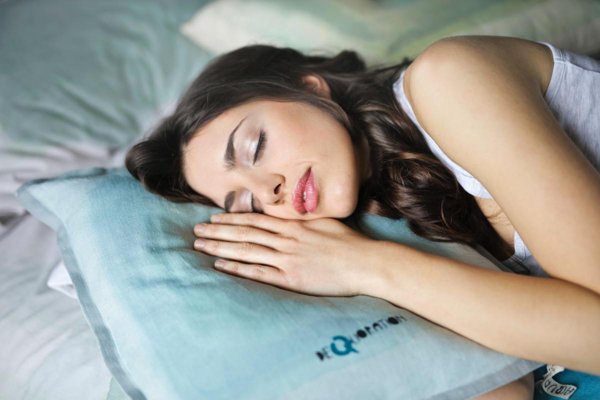 Herbal teas can help improve the quality of your sleep by relaxing you.
