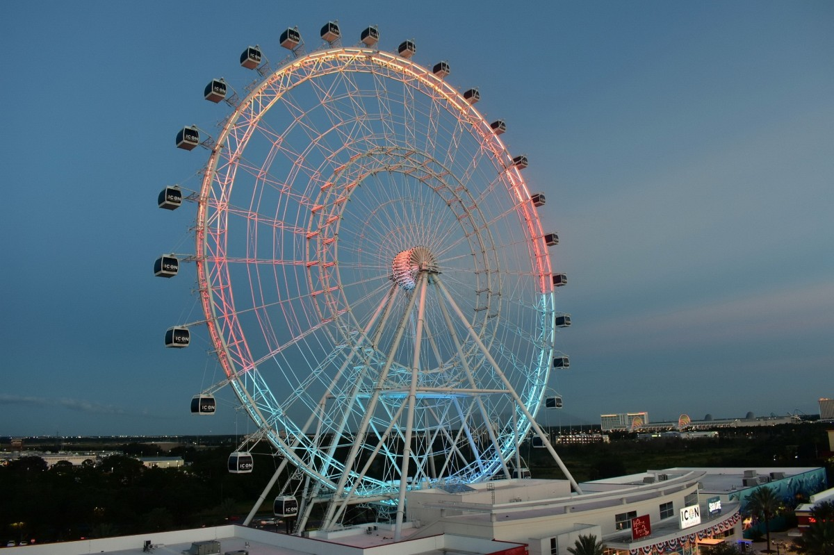 Look for a Ferris wheel in the skyline. The wax museum is close.