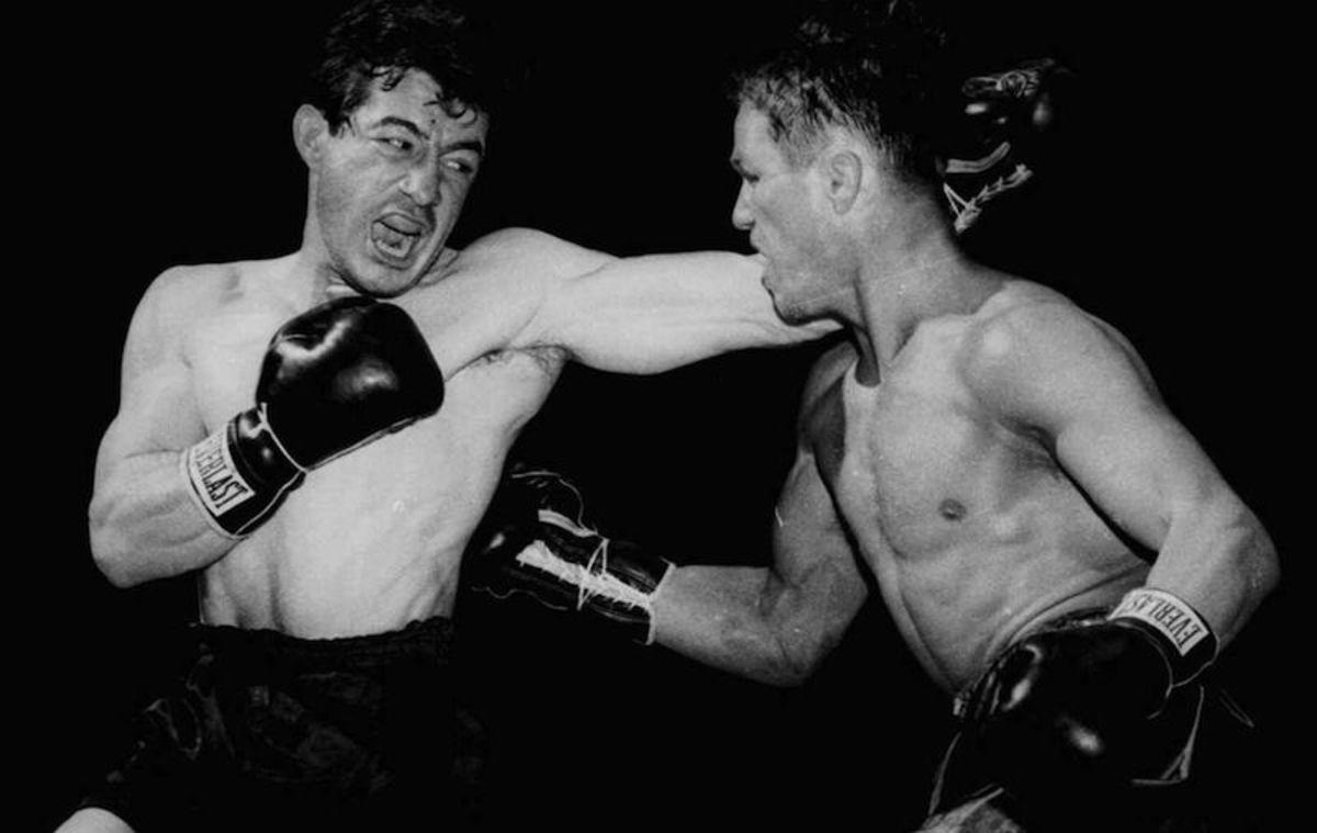Rocky Graziano (L) Tony Zale (R)
