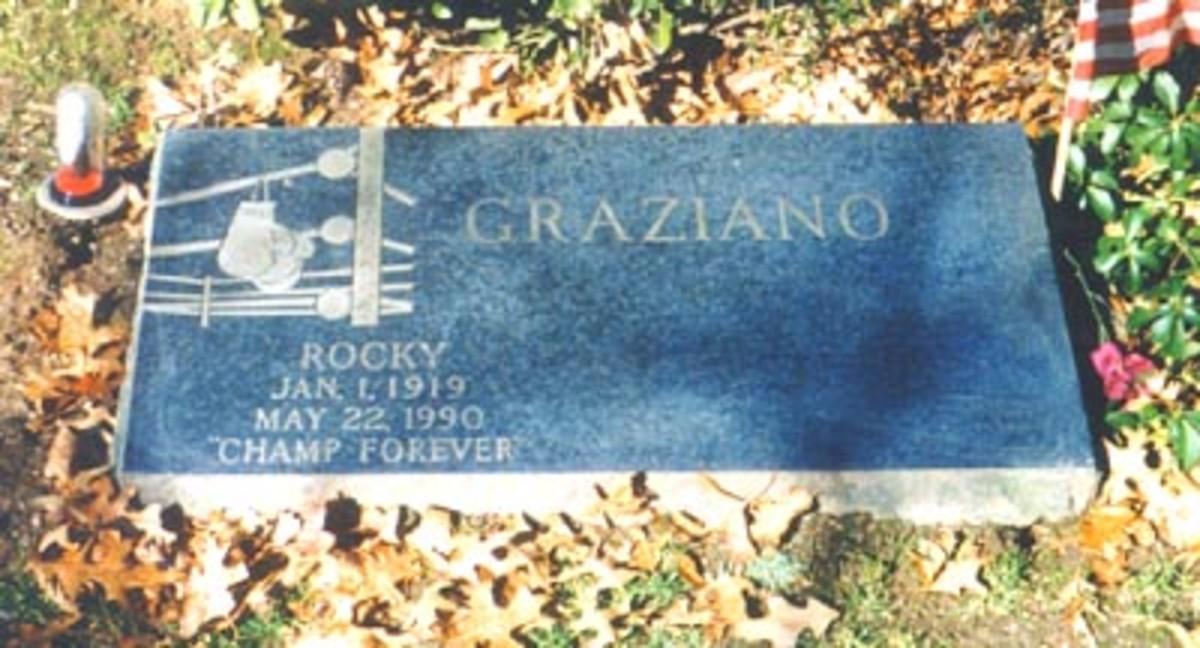 Rocky Graziano grave marker
