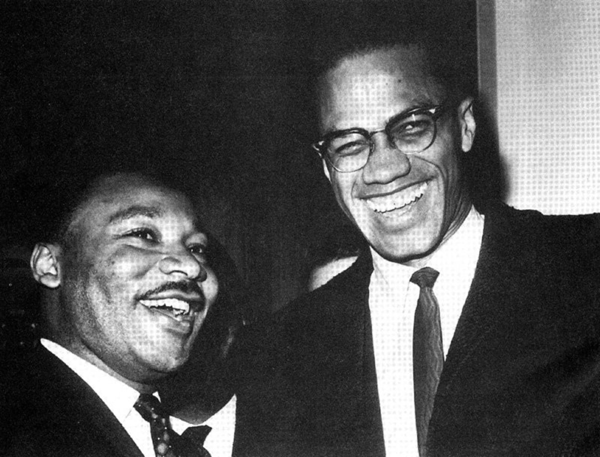 a comparison between martin luther king jr and malcolm x Malcolm x meets with martin luther king jr after leaving the nation of islam, malcolm x founded muslim mosque, inc, a religious organization,.