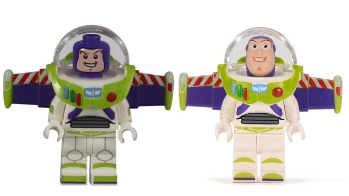 LEGO Buzz Lightyear Minifigure Comparison