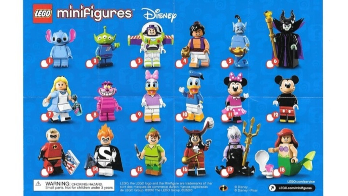 LEGO Disney Minifigures 71012  Checklist