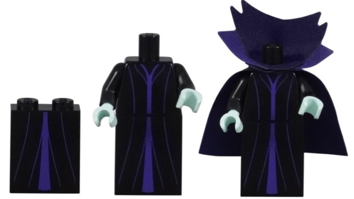 LEGO Disney Maleficent Minifigure Dress Pieces