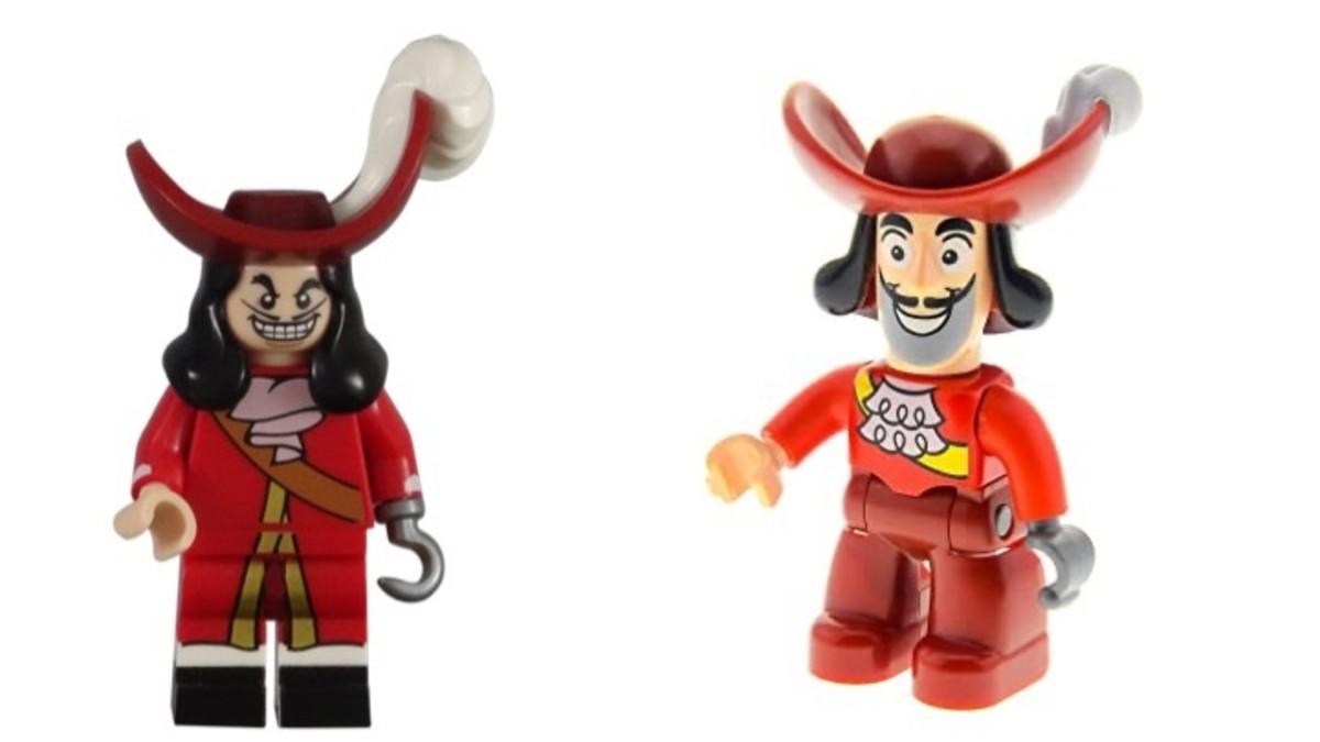 LEGO Captain Hook Minifigure vs LEGO Captain Hook DUPLO Figure