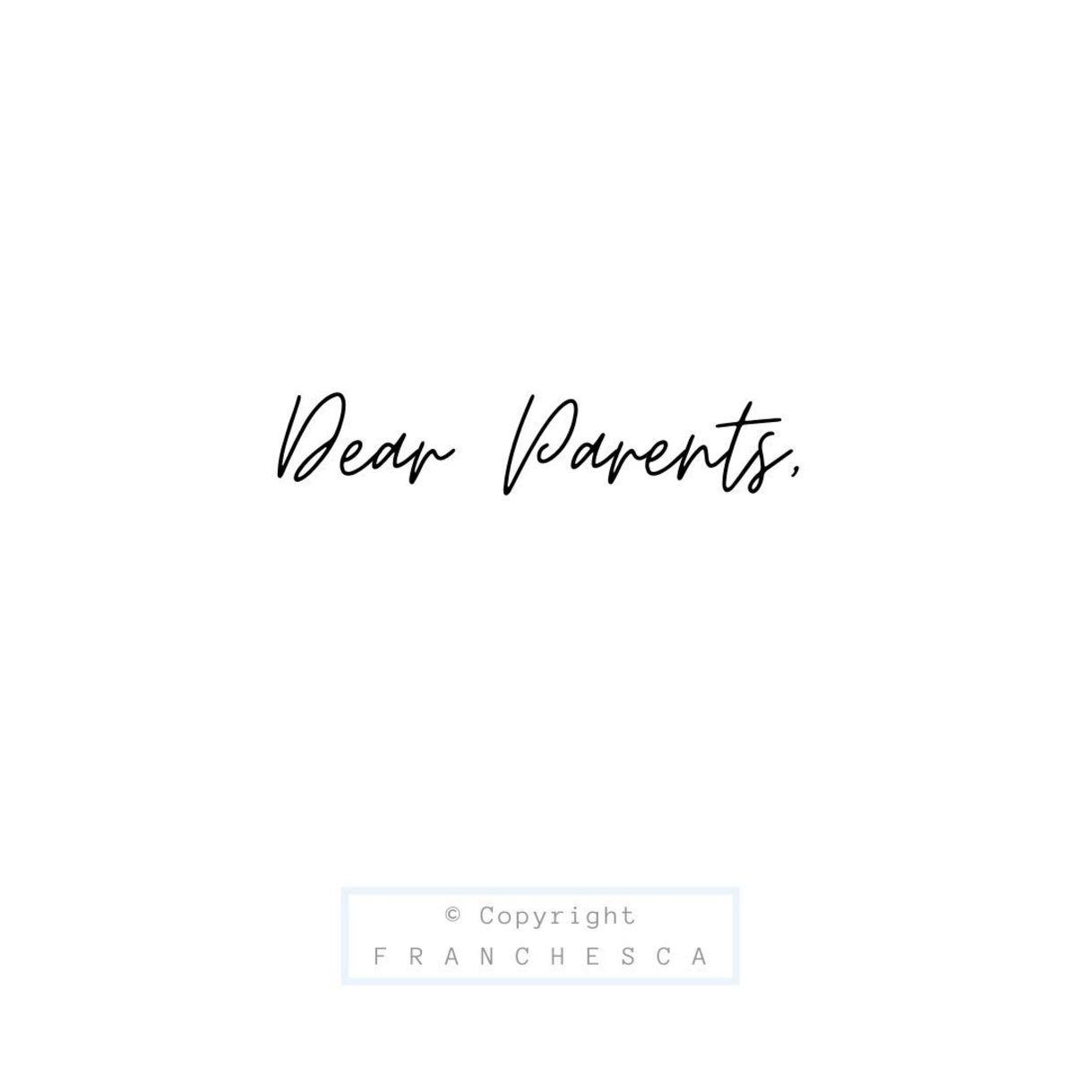48th Article: Dear Parents,