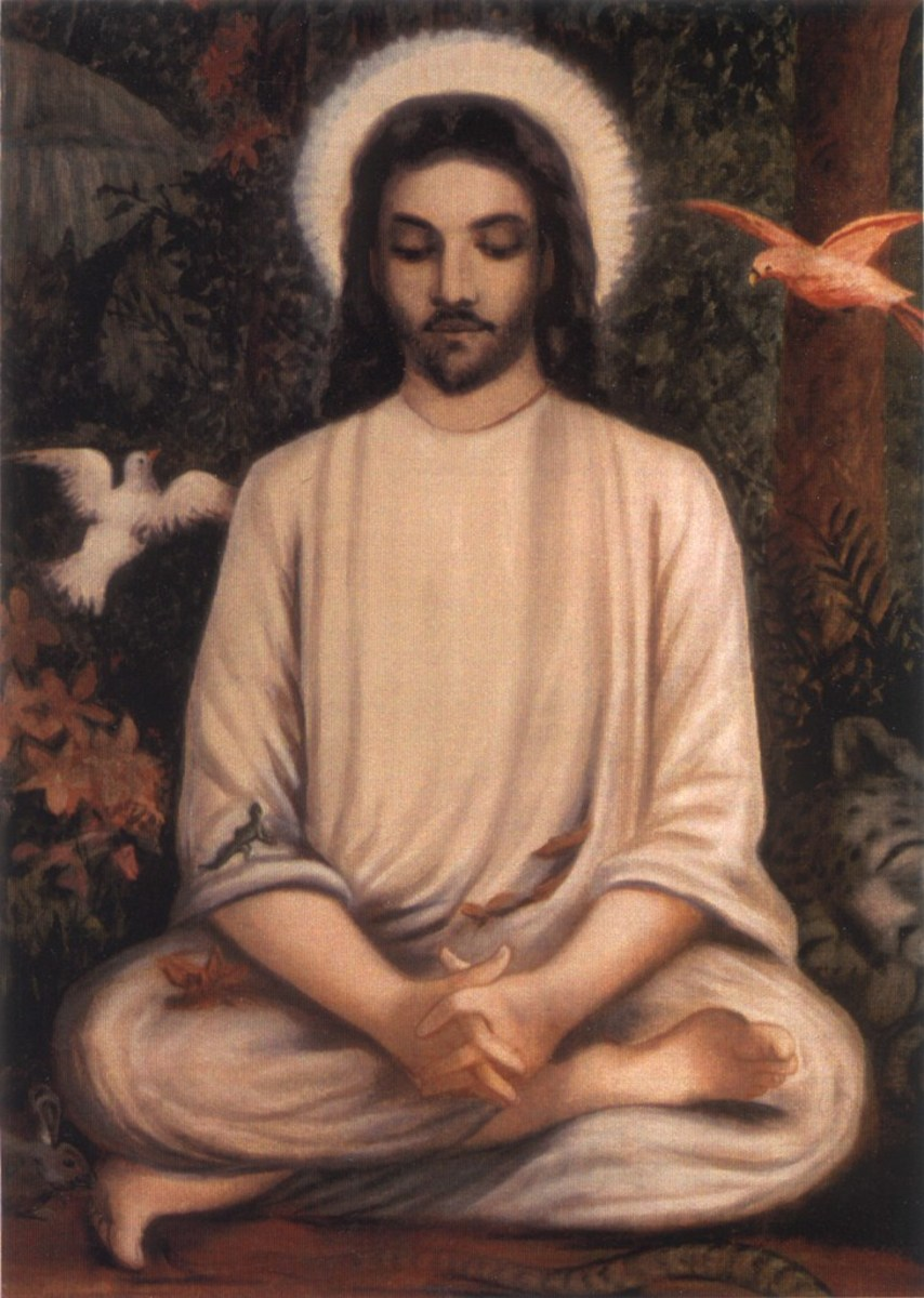 Jesus depicted as the first contemplative