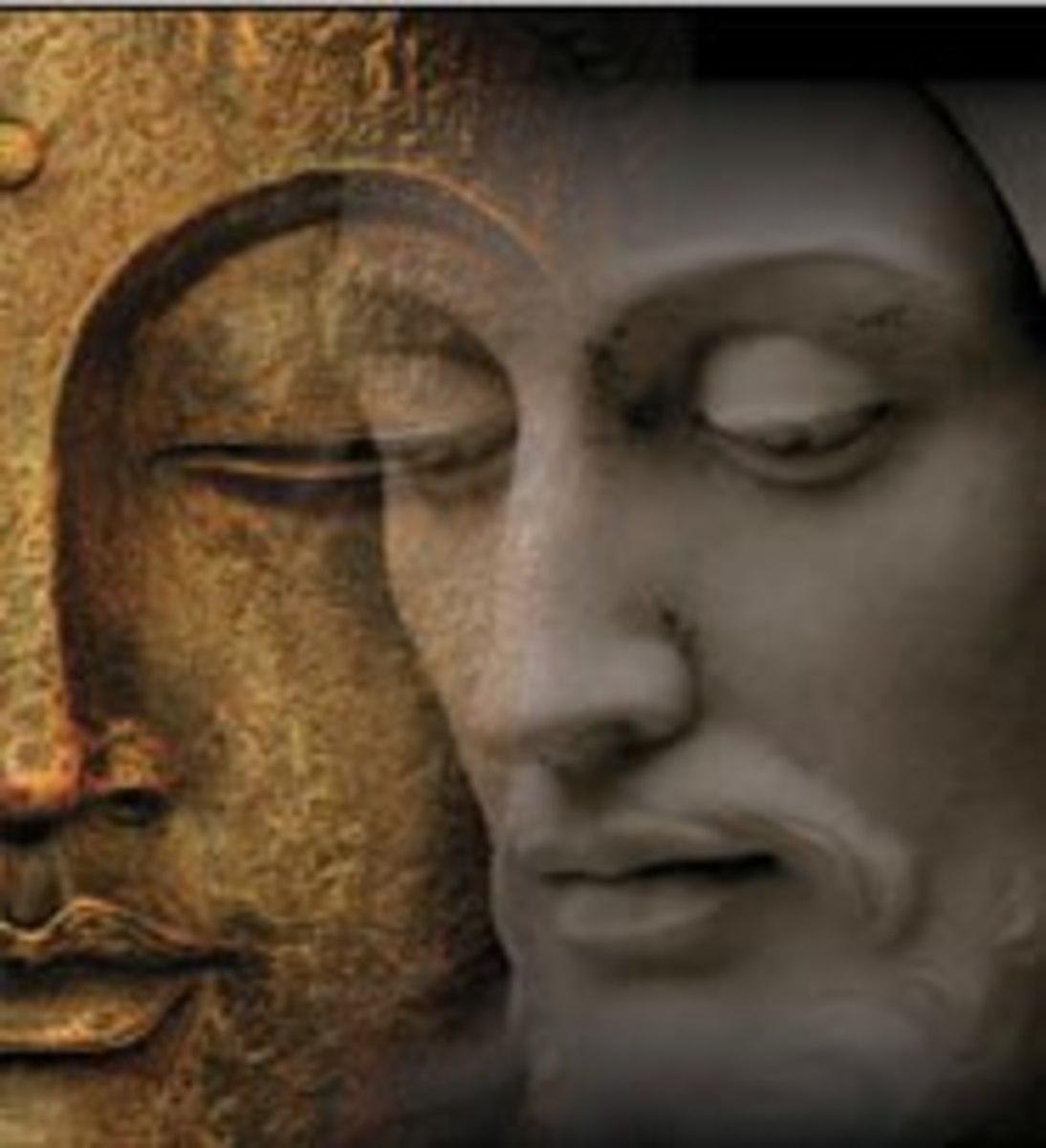 An image of Jesus and Buddha