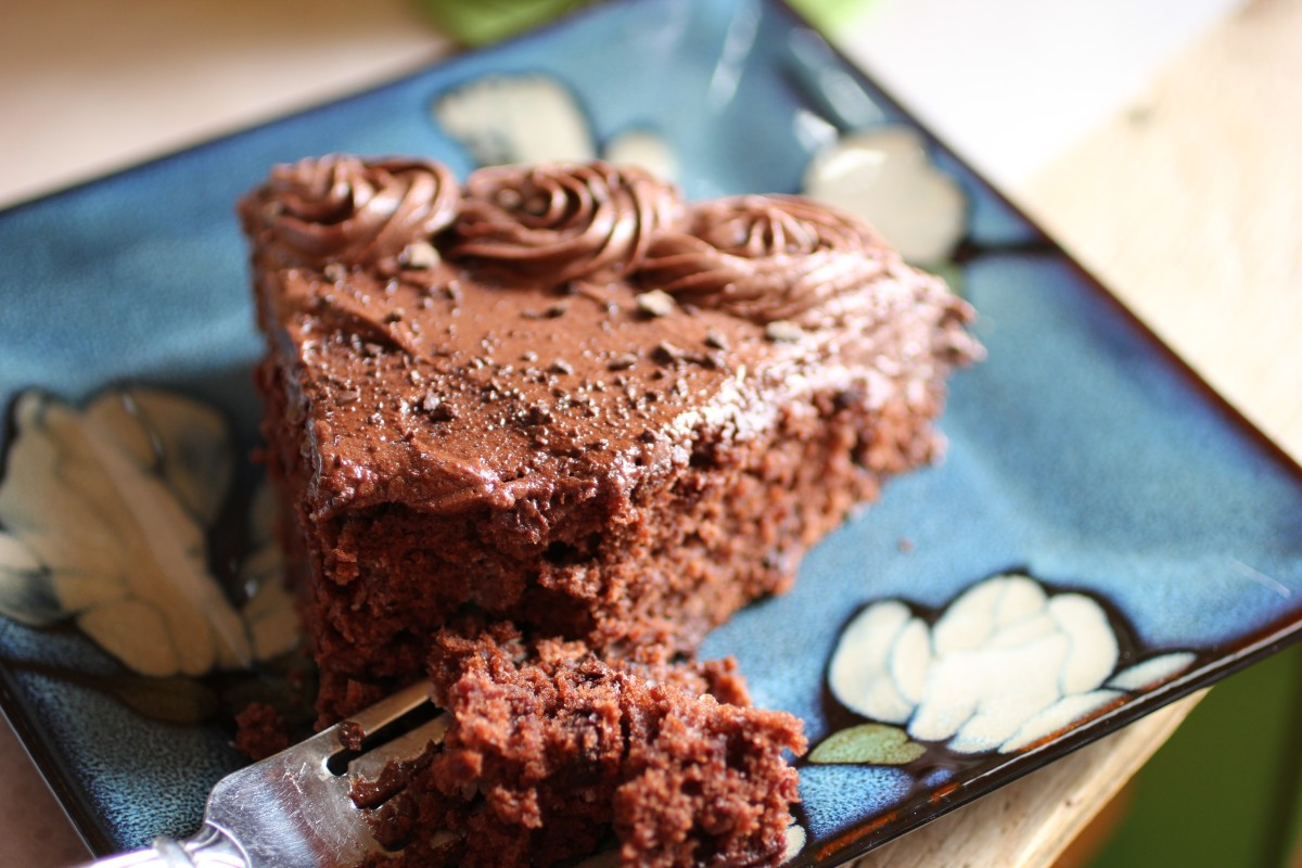 A deliciously dense and moist cake