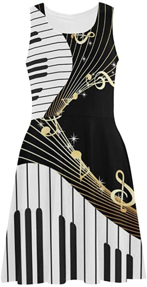 Music print dress from Amazon.com.