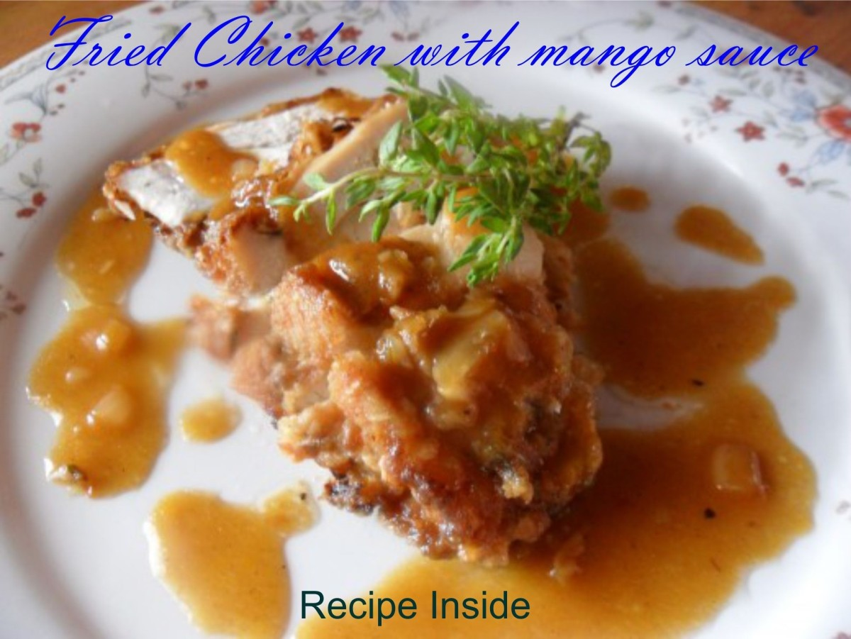 fried-chicken-recipe-with-mango-sauce