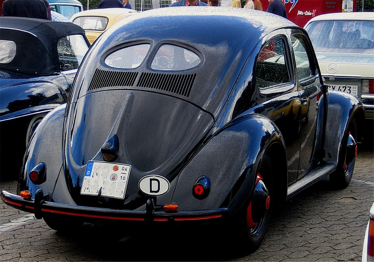 The classic 1950 VW Beetle, Type one original