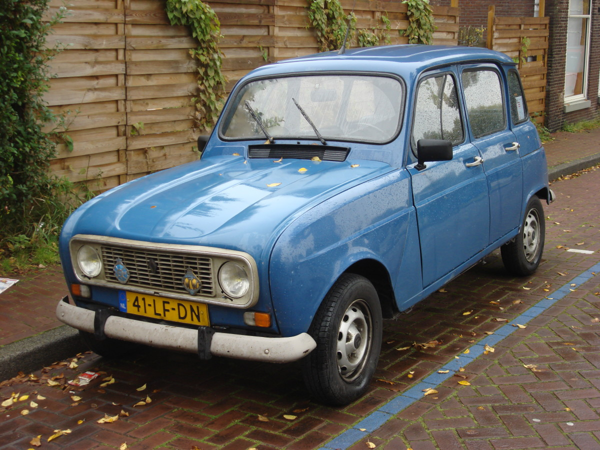 The Renault 4 is ideal for European cities with limited parking.  High off the ground and narrow, it hugs narrow winding country roads as well.  Boxy and sturdy, four or five can be seated comfortably.