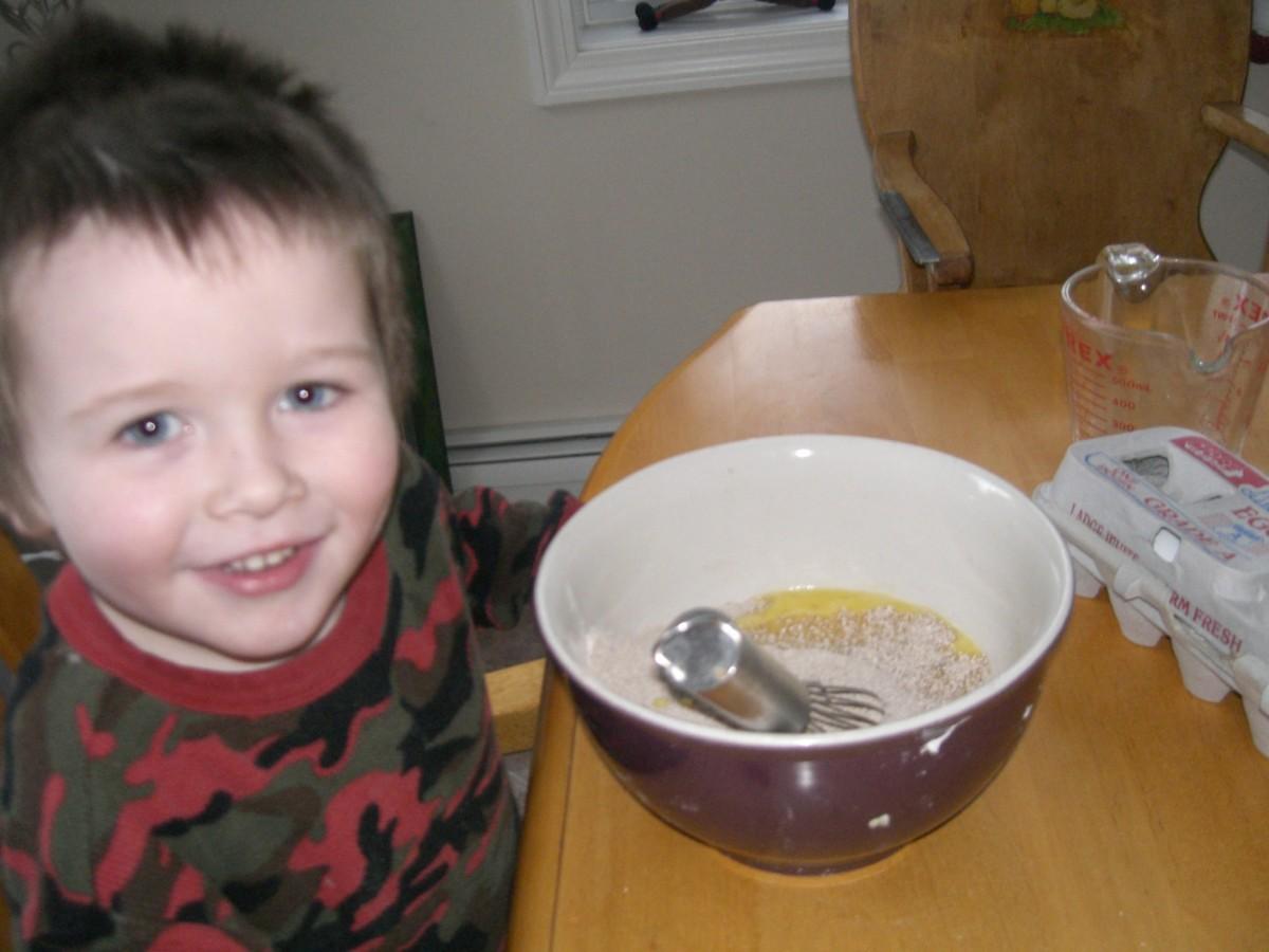 Making Scones for Chicken Stew