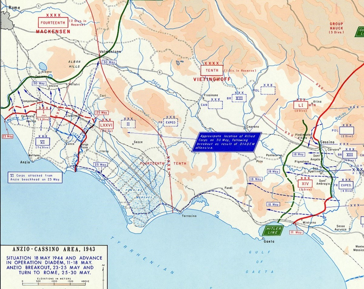 Operation Diadem situation map