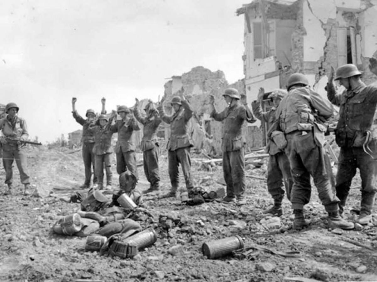 German POWs taken at Cisterna, May 27, 1944.