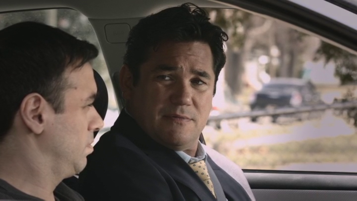 Even Dean Cain looks like he's confused about how I gave him a compliment.