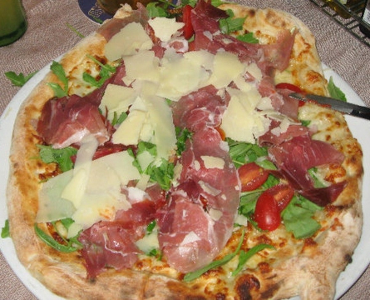 One of the many pizzas I ate in Lignano