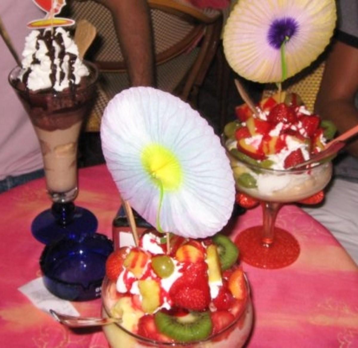 Typical gelato in Lignano