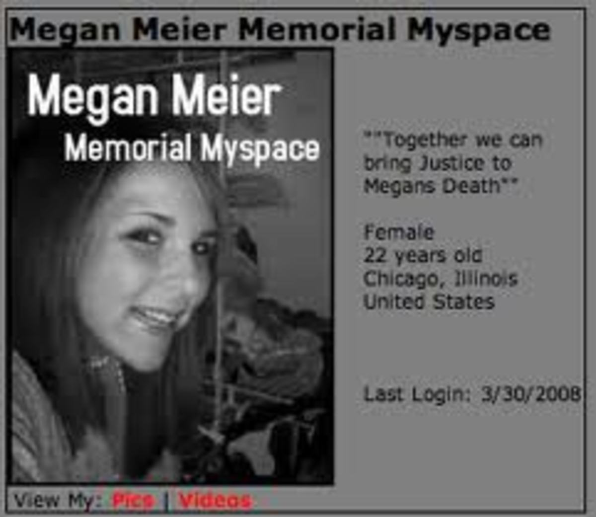 cyberbullying megan meier Said was the country's first cyberbullying verdict wednesday, convicting a  missouri  megan meier, 13, who committed suicide last october after  identity  on myspace to communicate with sarah's nemesis, megan meier,.