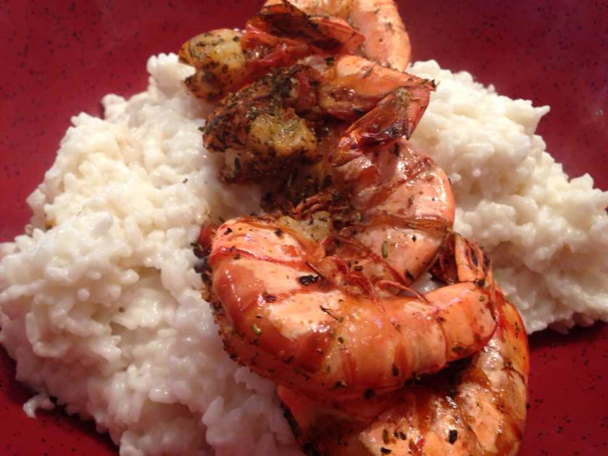 Grilled Shrimp on Rice