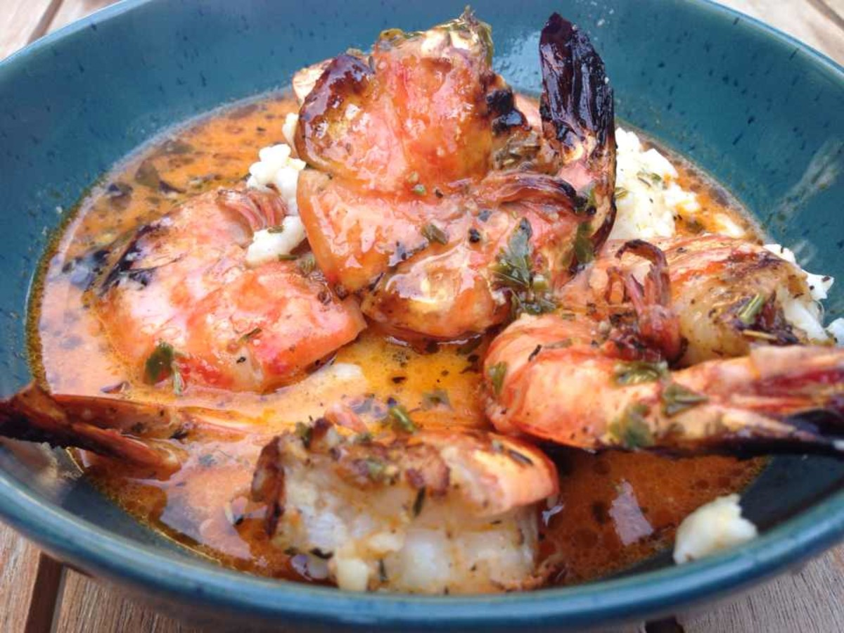 How to BBQ Moist Large Shrimp or Prawns