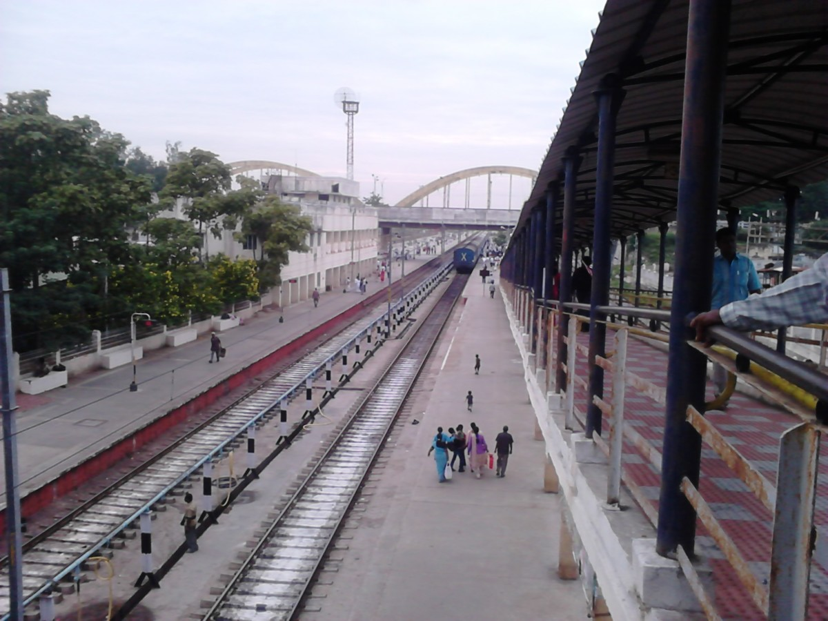 Katpadi Junction connects Vellore by rail