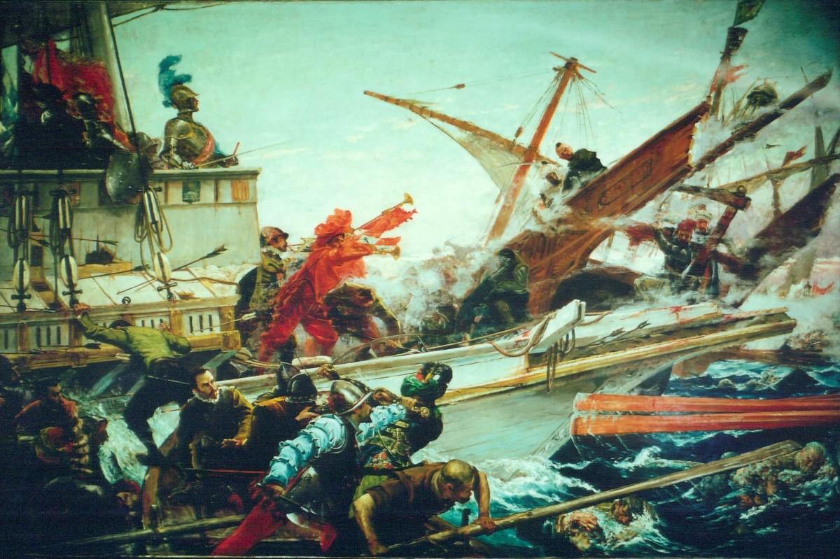 Battle of Lepanto painting by Juan Luna.