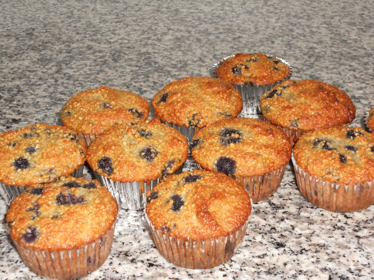 Gluten Free Grain Free Blueberry Muffins Fresh from the Oven