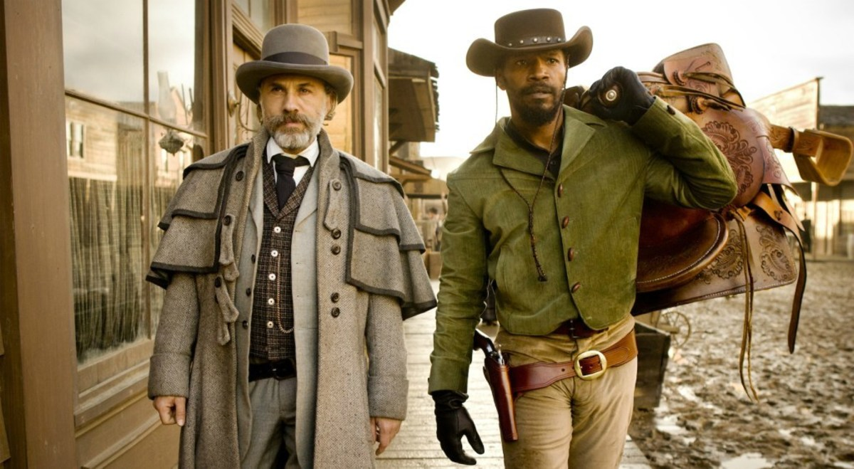 Foxx (right) may be the star but Waltz (left) is outstanding as the eccentric mentor Dr King Schultz.