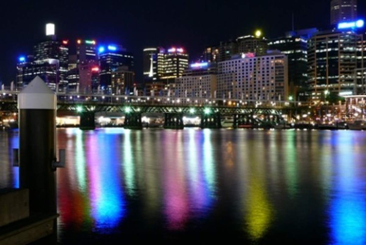 Looking across Darling Harbour towards Cockle Bay - taken by my friend Xevi