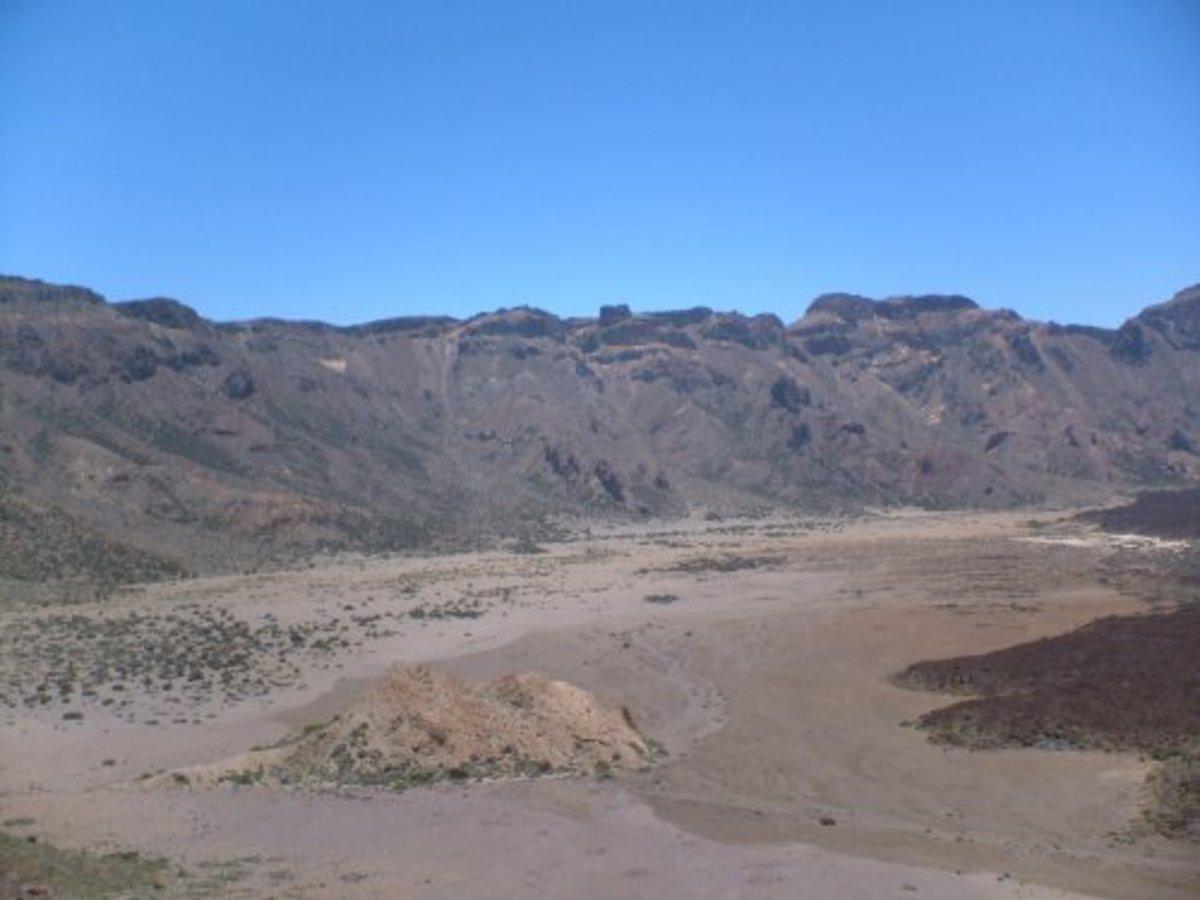 Las Caadas volcanic crater on Mt Teide