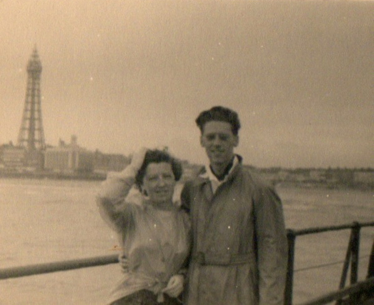 Mum & Dad in Wind-swept Blackpool
