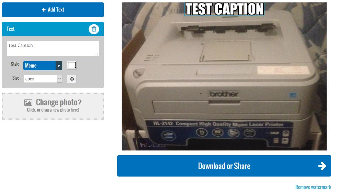 AddText Interface
