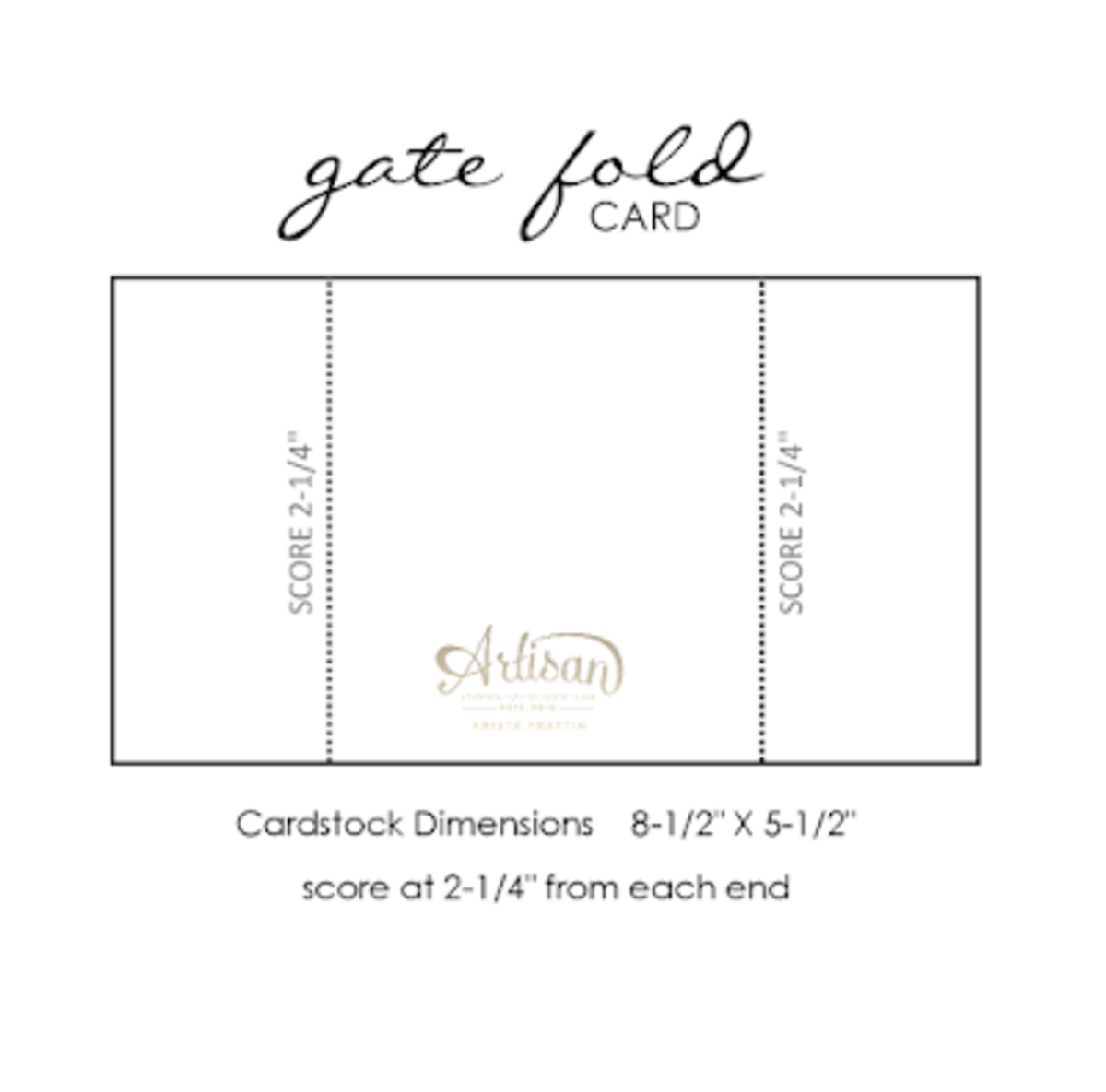 Basic gate fold card is easy to make and fun to decorate