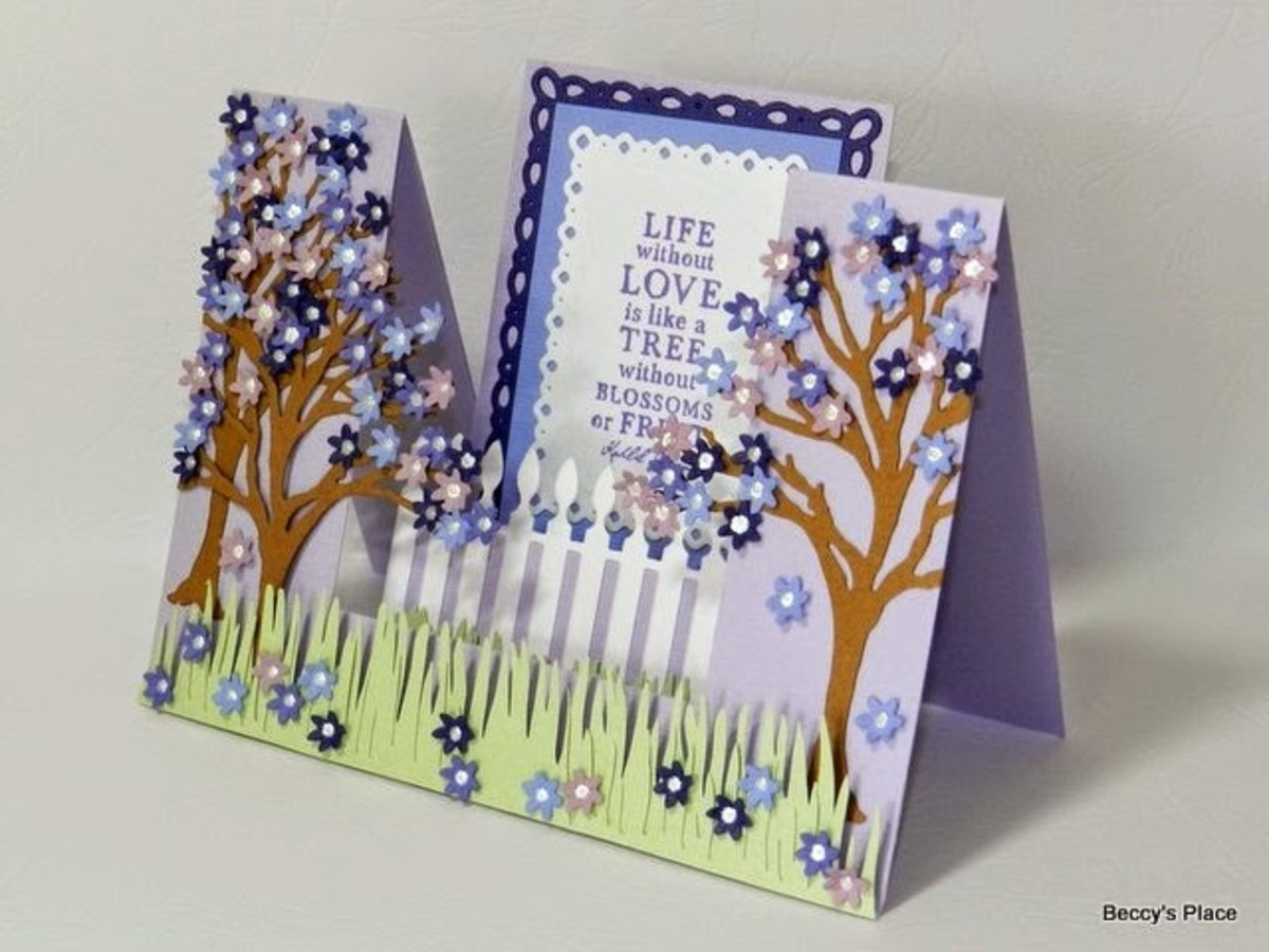 You can create a single or a double step fold card