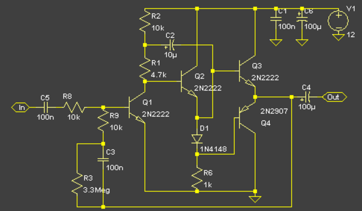 A pure class B audio amplifier circuit you can use for your electronics projects.