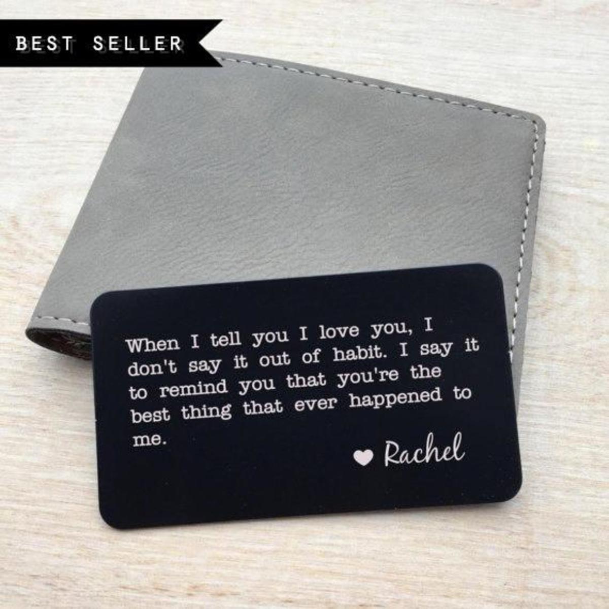 Personalised wallet card