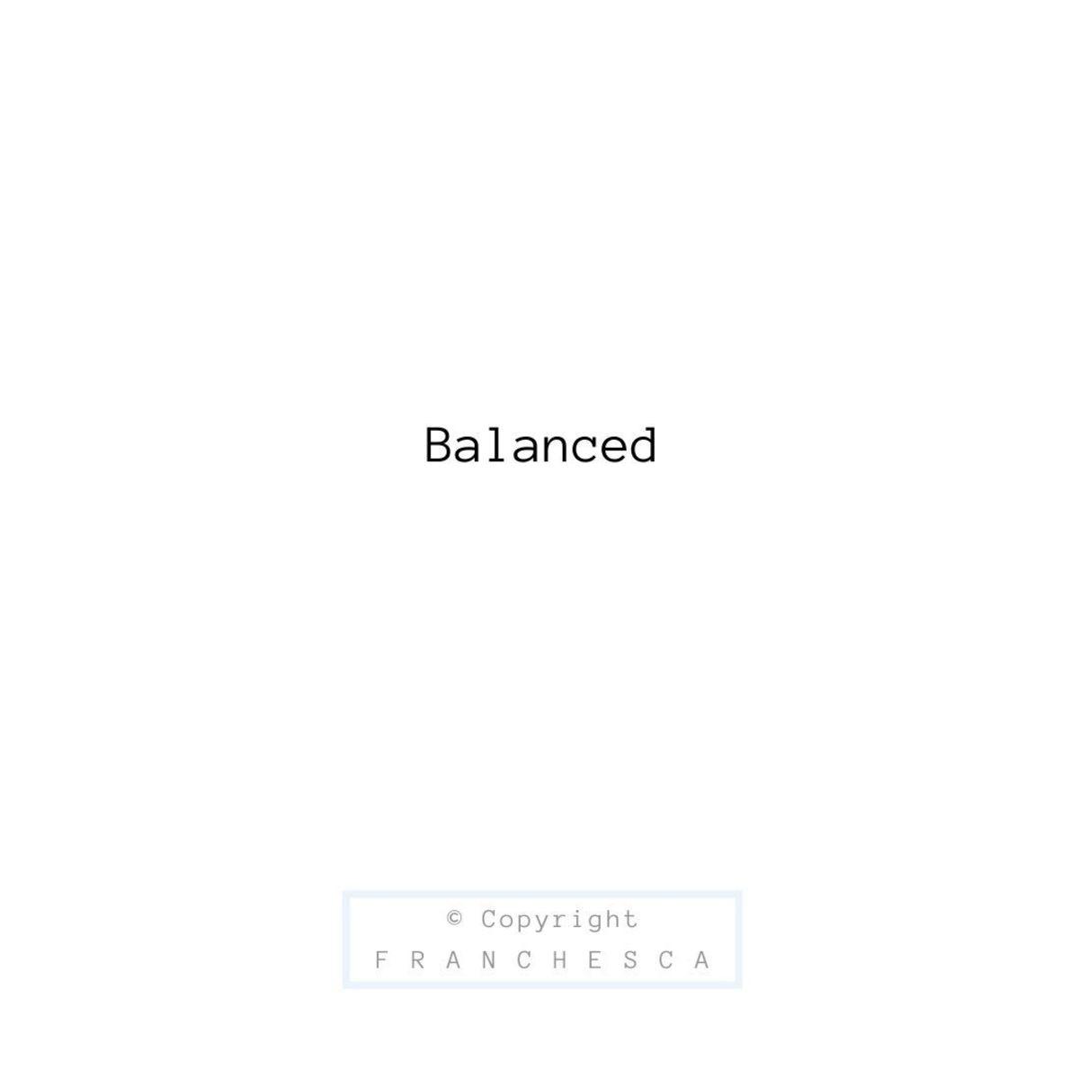 160th Article: Balanced