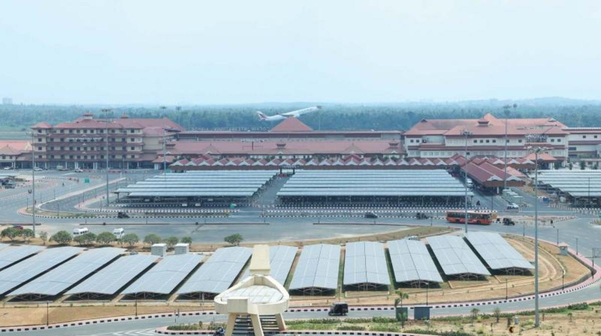 Solar panels in Cochin International Airport, India