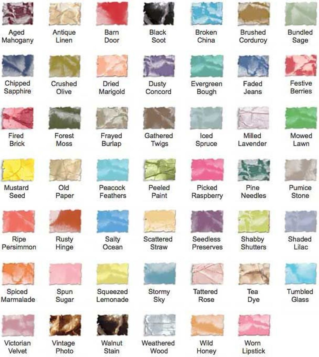There is a wide range of distress ink colors available, so you will always have the color you need