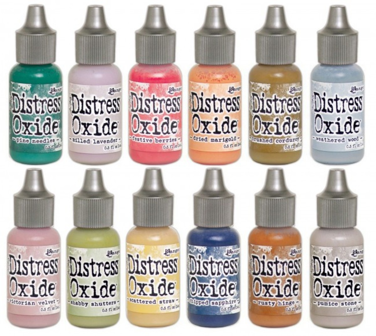 Reinkers come in the same palette that the ink pads are in. Just a drop or two of either the Distress or Oxide inks will help you watercolor all sorts of images