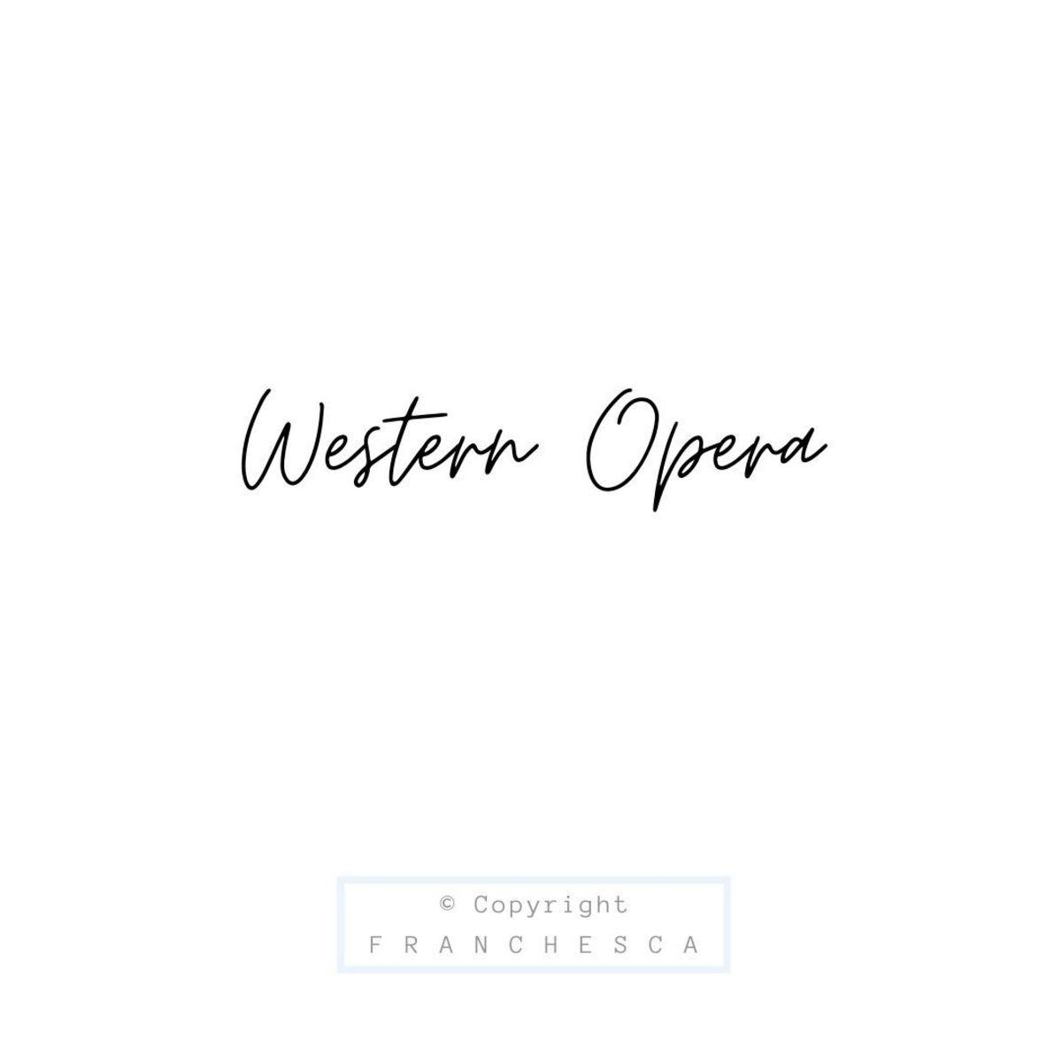 121st Article: Western Opera